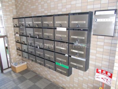 コーポレート竹の塚五丁目の郵便ボックス