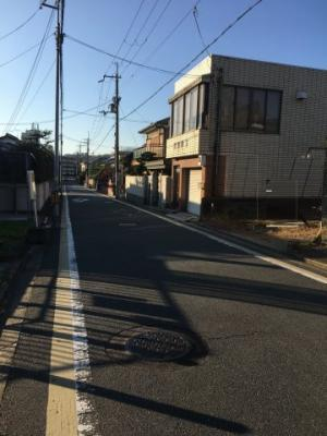 【前面道路含む現地写真】伏見区醍醐東合場町 新築戸建