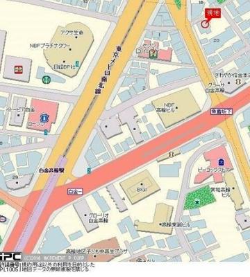 【地図】エクセリア白金高輪