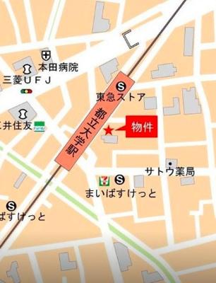 【地図】Clarice 都立大学