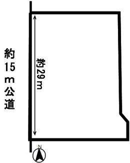 【区画図】38429 岐阜市東川手土地