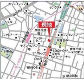 【地図】クリオ戸越銀座壱番館1