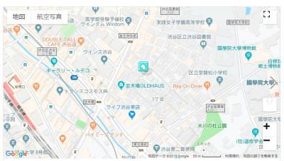 【地図】常盤松サマリヤマンション