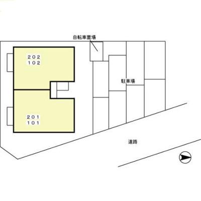 【区画図】セジュールAMANO