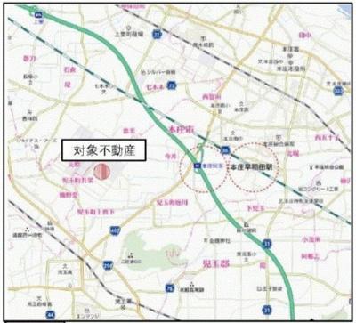 【地図】本庄市児玉町 児玉工場団地内工場