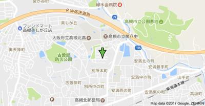 【地図】サンハイツ高槻4号館 (株)Roots