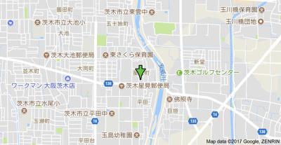 【地図】二階堂ハイツB棟