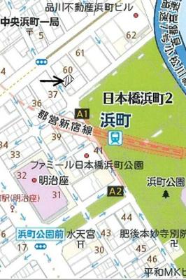 【地図】パークサイド日本橋