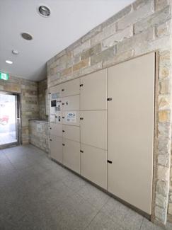 大型の宅配ボックスなど、マンション共用部の設備も充実しています