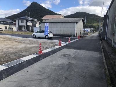 【前面道路含む現地写真】西脇市野村全4区画 3号地