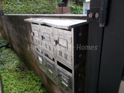 ホワイト東新町の郵便ボックス