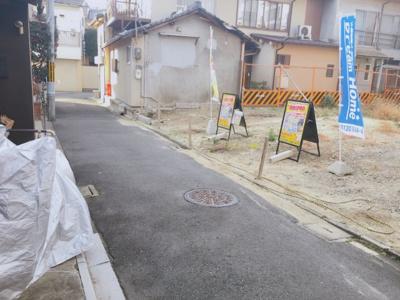 【前面道路含む現地写真】伏見区深草寺内町 建築条件無し売土地