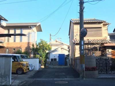 【前面道路含む現地写真】伏見区桃山町養斉 新築戸建