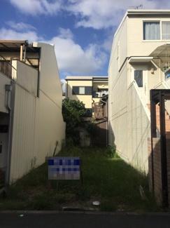 【外観】売土地/現況更地、南海高野線「帝塚山駅」徒歩約8分 ※別途、建築フリープラン対応可能物件になっております。  自分好みのマイホームに最適の立地です♪