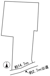 【区画図】53802 羽島市正木町上大浦土地