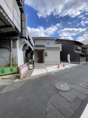 【前面道路含む現地写真】京都市第1伏見区両替町 新築戸建