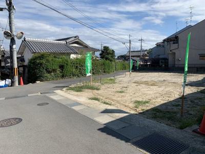 【前面道路含む現地写真】京田辺市薪里ノ内 売土地
