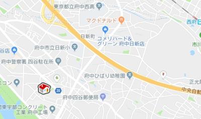 【地図】レオパレス美行(39482-103)