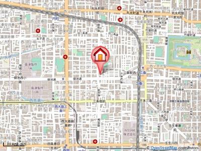 【地図】サンライズハウス