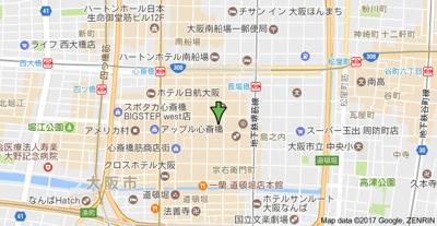【地図】ヴィラタワー谷町