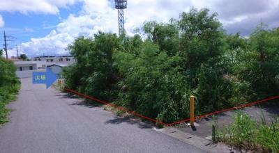 【前面道路含む現地写真】沖縄市知花 売地