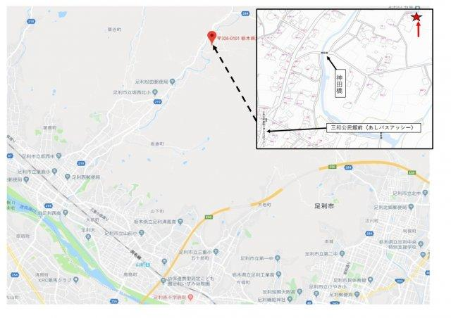 【地図】売地:足利市松田町 119坪
