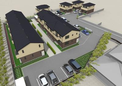 2019年施工の広い間取りテラスハウス・アパートも敷地内にあり家族連れの多いエリアになります!管理:大興住建