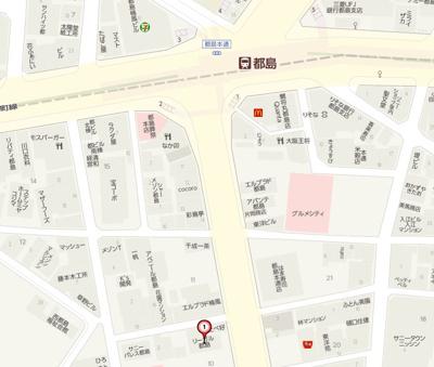 【地図】リーガル都島