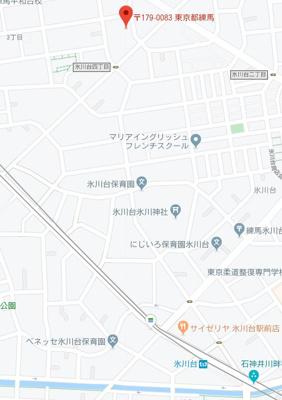 【地図】リガーレプレズント氷川台