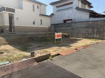 【前面道路含む現地写真】豊中市上野東1丁目土地