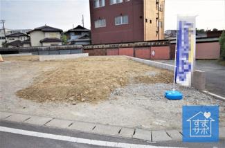 1号棟 現地(2019年9月)撮影 12月完成予定です。 敷地面積117.98㎡(53.83坪)。 駐車3台可能です。