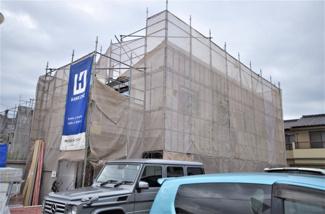 1号棟 現地(2019年9月)撮影 上棟しました! 面積119.95㎡、建物面積106.1㎡