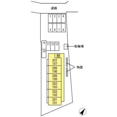 【区画図】セジュール南仙北