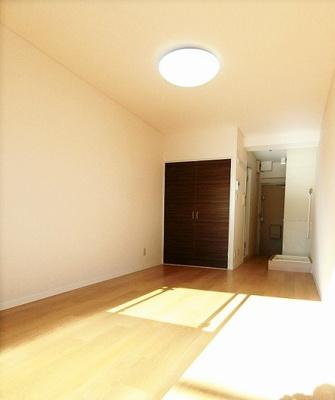 クローゼットのある南向き洋室8帖のお部屋です!お洋服の多い方もお部屋が片付いて快適に過ごせますね♪