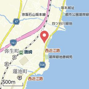 【地図】セレーナ唐崎2