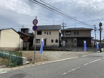 【前面道路含む現地写真】福井注文建築用地