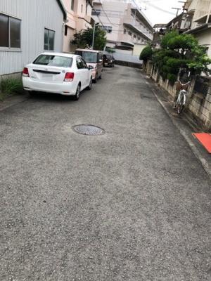 【前面道路含む現地写真】【売地】明和中学校区・56564