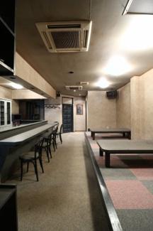 1階の店舗部分を厨房側から撮影。2019年10月31日 11:00頃。