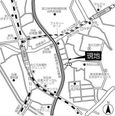 【地図】フレアージュ白金台
