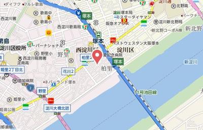 【地図】香川ハイツ
