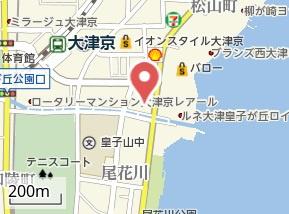 【地図】ロータリーマンション西大津1番館テナント