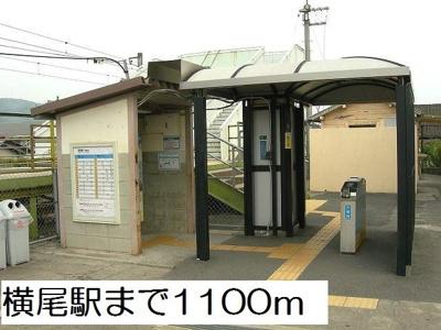 横尾駅まで1100m