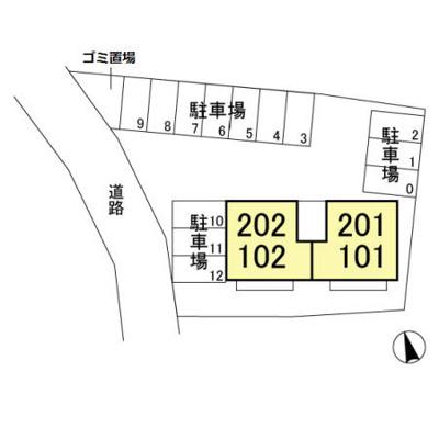 【区画図】D-room(大和)第3十王堂ハイツ