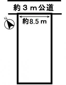 【区画図】53820 岐阜市鷺山土地