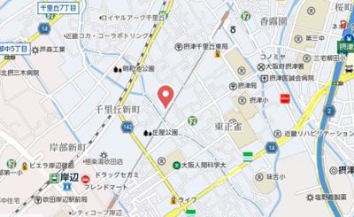 【地図】摂津市庄屋1丁目山下貸家
