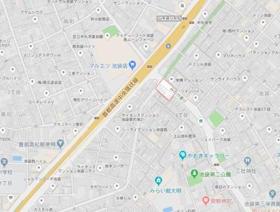 【地図】ハーモニーテラス池袋Ⅱ