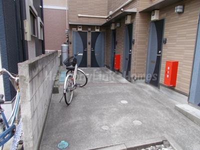 ウェルストリームの駐輪スペース