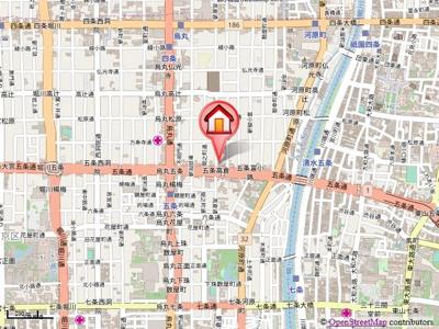 【地図】五条高倉Vivre2(旧:五条高倉レジデンスHORI)