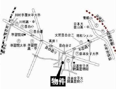ライフピア目白台Ⅲの地図☆