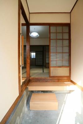【玄関】萱振町4丁目テラスハウス